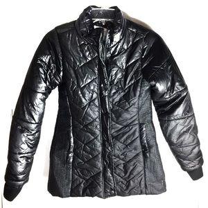 Girls JUSTICE Black Puffer Winter Coat Jacket